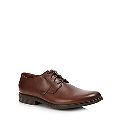 Clarks - Tan leather 'Becken' Derby shoes