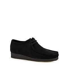 Clarks - Black suede 'wallabee' shoes