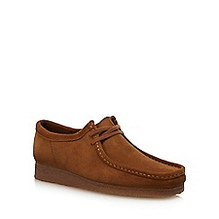 Clarks - Tan suede 'Wallabee' shoes