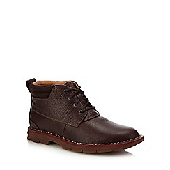 Clarks - Brown Leather 'Varick' Lace Up Boots
