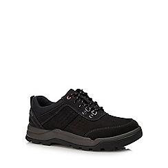 Clarks - Black nubuck 'Un Atlas' walking shoes
