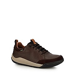 Clarks - Dark brown 'Ashcombe Bay' trainers
