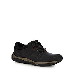 Clarks - Black 'Walbeck Edge ii' walking shoes