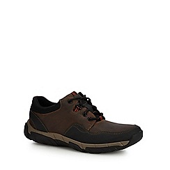Clarks - Brown 'Walbeck Edge ii' walking shoes