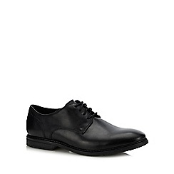 Clarks - Black leather 'Banbury' Derby shoes