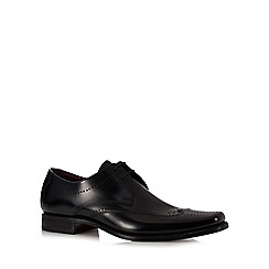 Loake - Black leather 'Bryant' Derby shoes