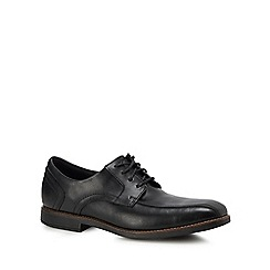 Rockport - Black leather 'Slayter Bike Toe' Derby shoes