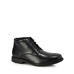 Rockport - Black leather 'ED2' chukka boots