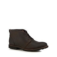 Rockport - Brown leather 'Modern Break' chukka boots