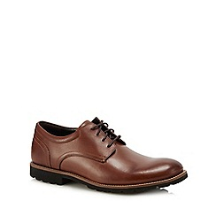 Rockport - Brown leather 'Modern Break' Oxford shoes