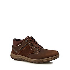 Rockport - Tan leather 'Harlee' chukka boots