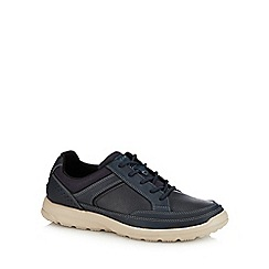 Rockport - Navy leather 'Welker' trainers