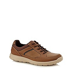 Rockport - Tan leather 'Welker' trainers