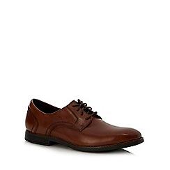 Rockport - Brown leather 'slayter bike toe' Derby shoes