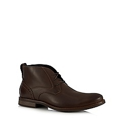 Rockport - Dark brown 'Wynstin' lace up chukka boots