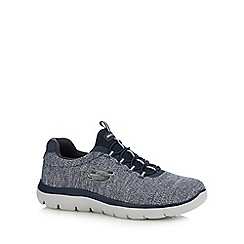 Skechers - Navy 'Summits' slip-on trainers