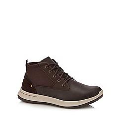 Skechers - Dark brown 'Delson' trainers