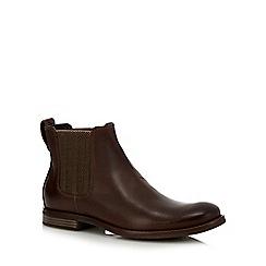 Rockport - Tan leather 'Wynstin' Chelsea boots