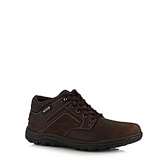 Rockport - Brown leather 'Harlee' chukka boots