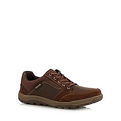 Rockport - Tan leather 'Harlee' lace up shoes