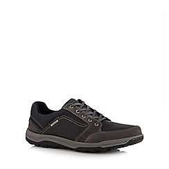 Rockport - Grey leather 'Harlee' lace up shoes