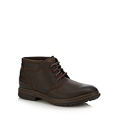 Rockport - Brown leather 'Urban retreat' desert boots