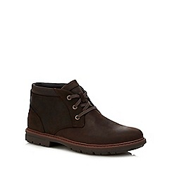 Rockport - Brown leather 'Tough Bucks' chukka boots