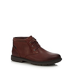 Rockport - Dark tan leather 'Tough Bucks' chukka boots