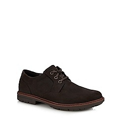 Rockport - Brown leather 'Tough Bucks' Oxford shoes