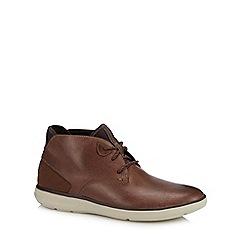 Rockport - Light brown leather 'Zaden' chukka boots