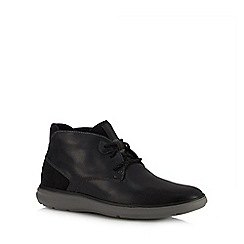 Rockport - Black leather 'Zaden' chukka boots
