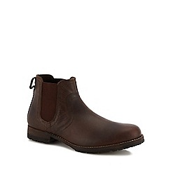 Mantaray - Brown leather 'Kazan' Chelsea boots