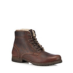 Mantaray - Brown leather 'Varna' lace up boots