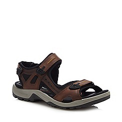 ECCO - Brown Leather 'Offroad' Sandals