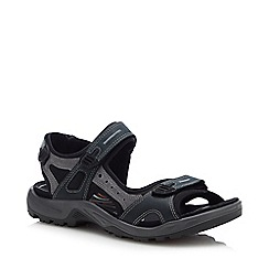 ECCO - Navy Leather 'Offroad' Sandals