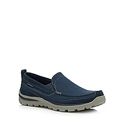Skechers - Navy 'Superior Milford' Slip-On Shoes