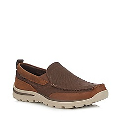 Skechers - Brown 'Superior Milford' Slip On Shoes