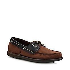 Rockport - Brown Nubuck 'Perth' Boat Shoes