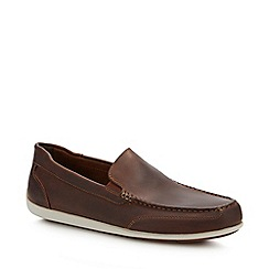 Rockport - Brown Leather 'Bennet' Loafers