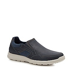 Rockport - Navy Leather 'Welker' Slip-On shoes