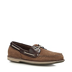 Rockport - Taupe Leather 'Perth' Boat Shoes