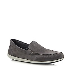 Rockport - Grey Suede 'Bennett Lane 4' Loafers