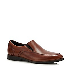 Rockport - Brown Leather 'Slayter' Slip On Shoes