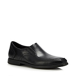 Rockport - Black Leather 'Slayter' Slip On Shoes