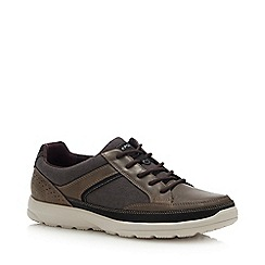 Rockport - Dark Brown Leather 'Welker' Trainers