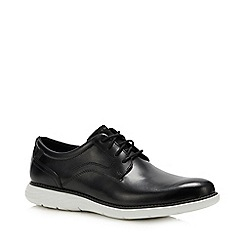 Rockport - Black Leather 'Garett' Derby Shoes