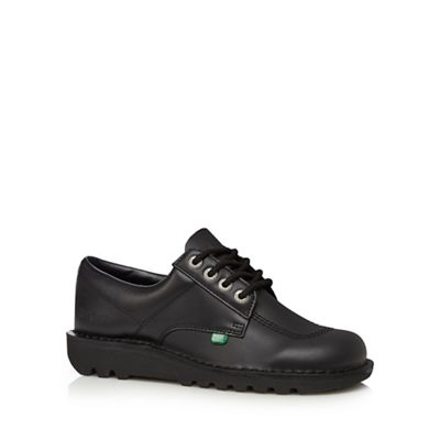 Kickers - Black leather lace up shoes