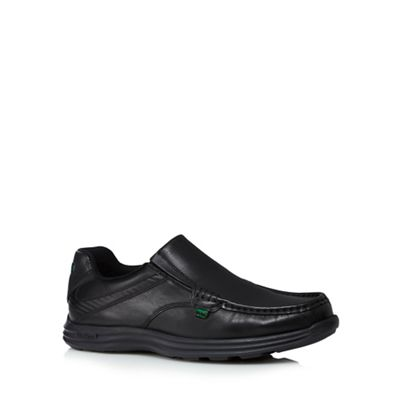 Online ExclusiveKickers - Black leather 'Reason' slip on shoes