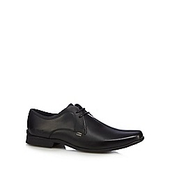 Kickers - Black leather 'Ferrock Lace 2' Derby shoes