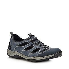 Rieker - Blue Slip-On Walking Shoes